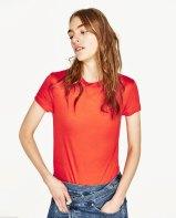 Basic T-shirt oranjerood